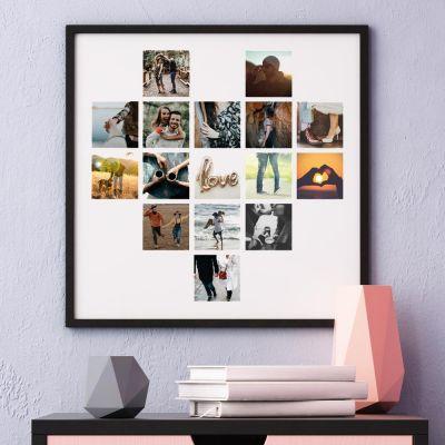 Poster Photo Personnalisable en forme de cœur
