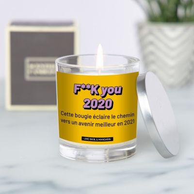 Bougie parfumée avec texte