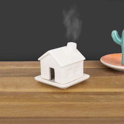Porte-encens maison en porcelaine