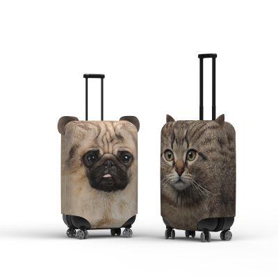 Housse de valise avec oreilles de chien ou de chat