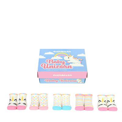 Chaussettes Licorne pour Bébés - Ensemble de 5 paires