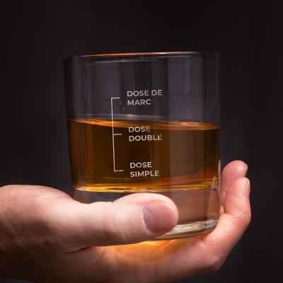 Verre à whisky avec gravure