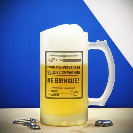 Chope en verre Personnalisable