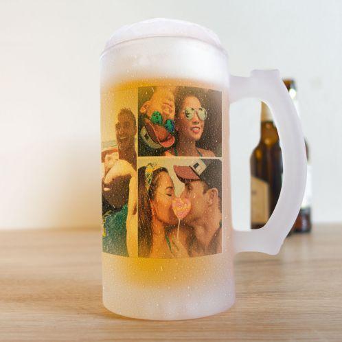 Chope de bière avec 5 Photos