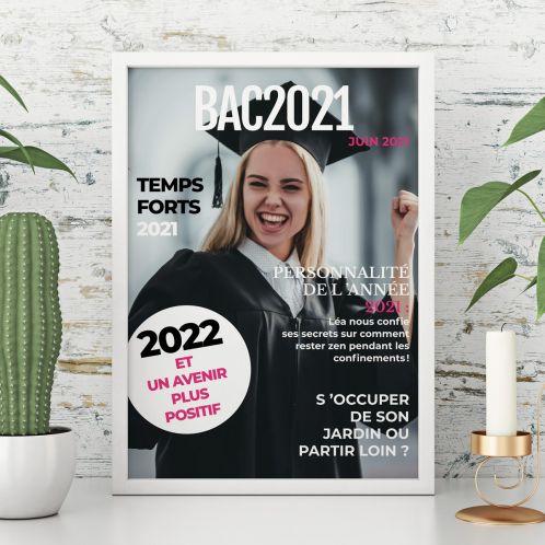 Poster type couverture de magazine