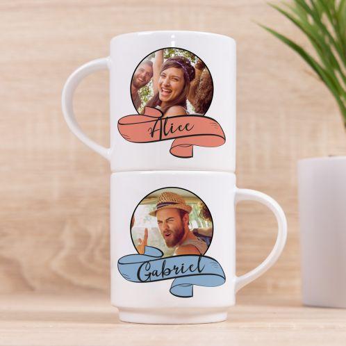 Tasse empilable avec Photo et Texte - Design