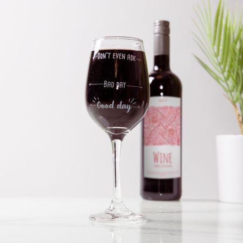 Verre à vin Good Day Bad Day