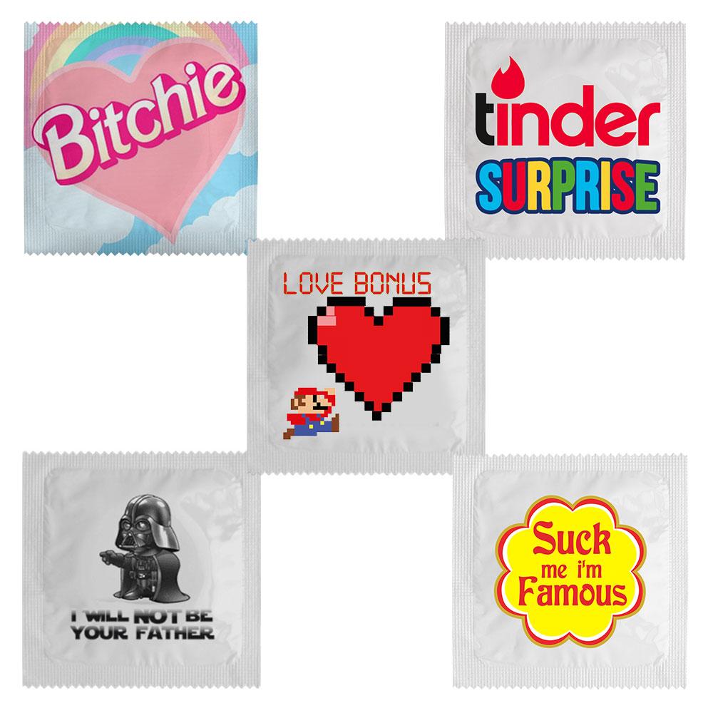 Set de préservatifs amusants
