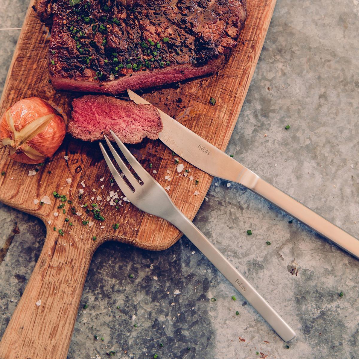 Couverts à steak Coffret Cadeau en bois