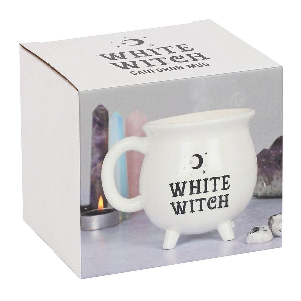 Tasse Chaudron de Sorcière en blanc