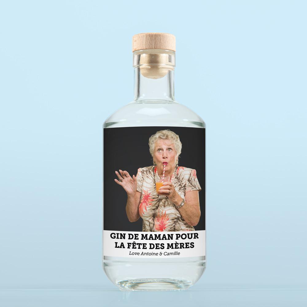 cadeau maman Gin avec Photo et Texte