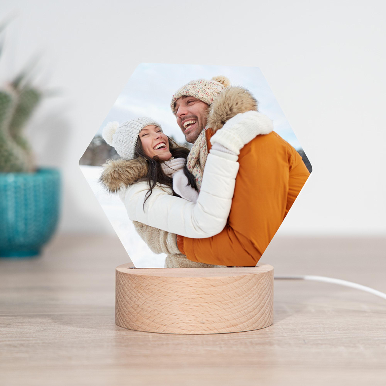 cadeau de noel pour parents lampe LED avec photo