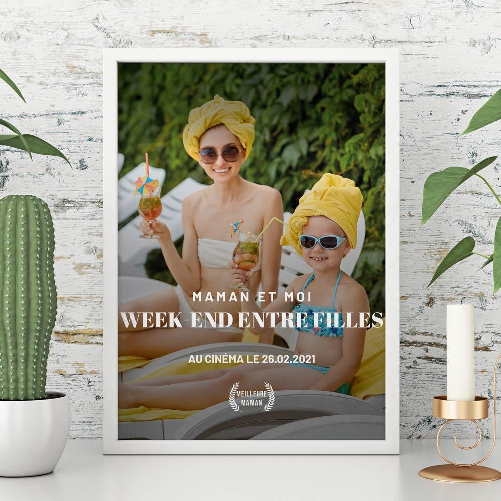 cadeau maman Affiche personnalisable façon affiche de film