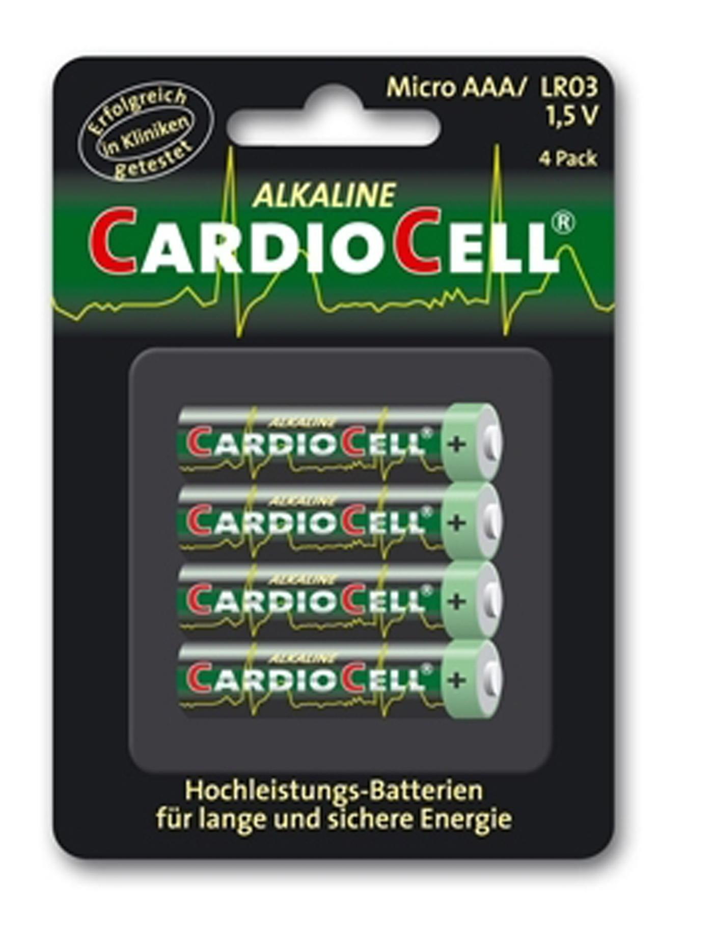 Lot de 4 piles Cardiocell Micro AAA-LR03