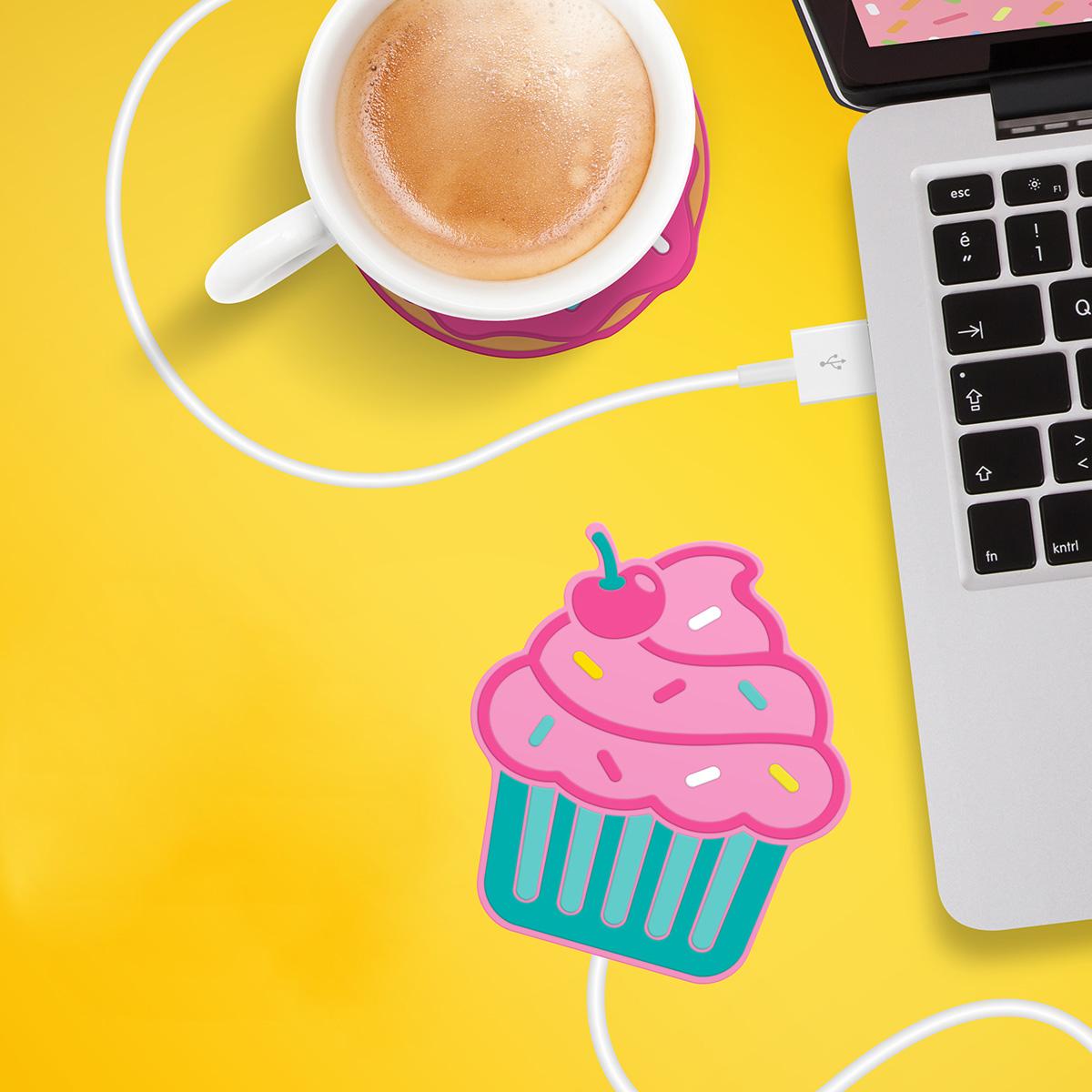 Chauffe-tasse USB Cupcake