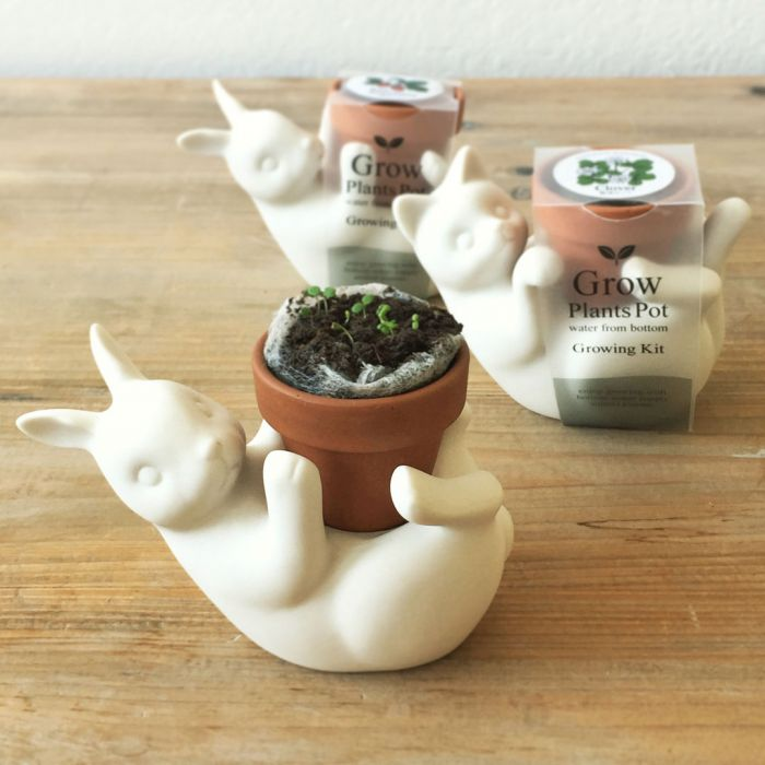 Pot de fleurs Chat ou Lapin