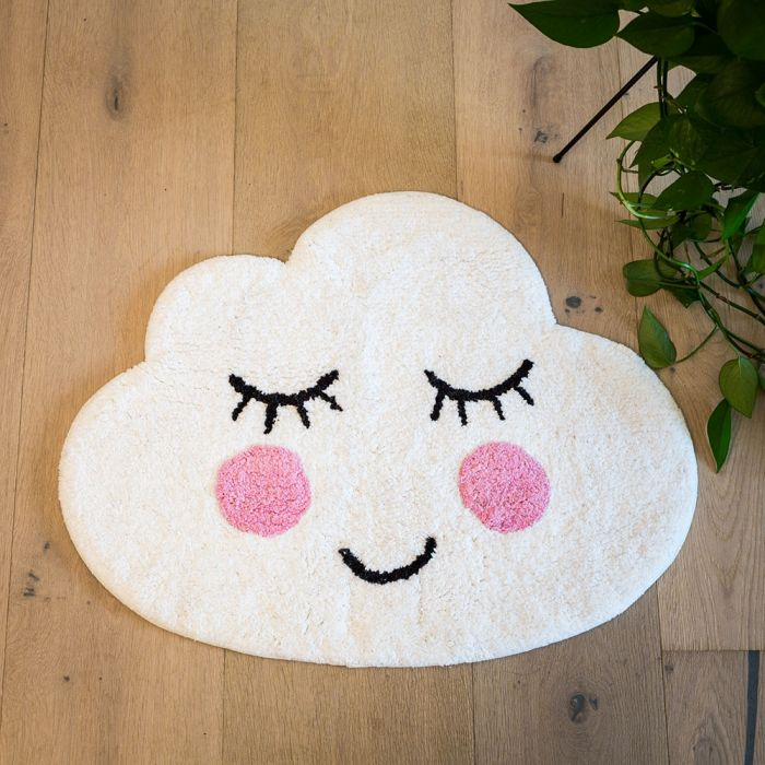 Wolken Badezimmerteppich