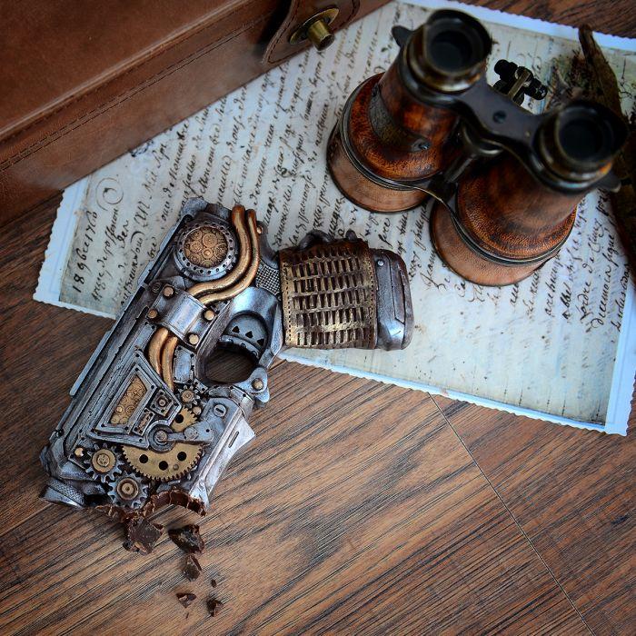 Pistolet en Chocolat Steampunk