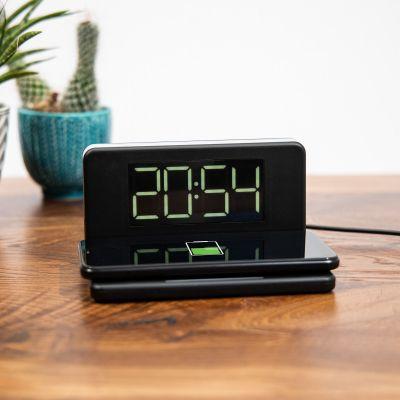 Chargeur sans fil avec Horloge et Veilleuse