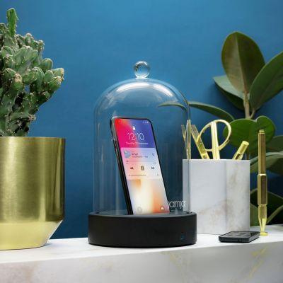 Couvercle de verre avec haut-parleur Bluetooth