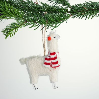 Boule de Noël Lama