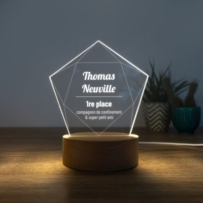 Lampe LED avec Étoile
