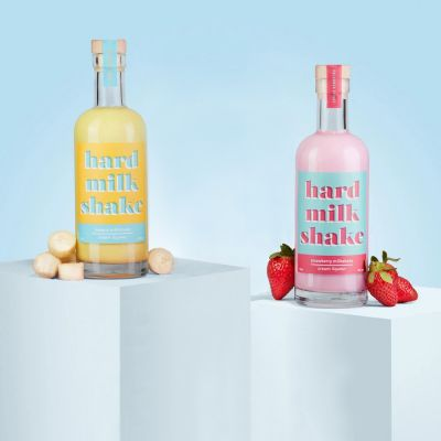 Milk-shake liqueur banane & fraise