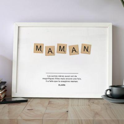 Poster Personnalisable Scrabble