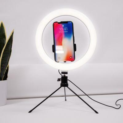 Trépied selfie avec anneau LED