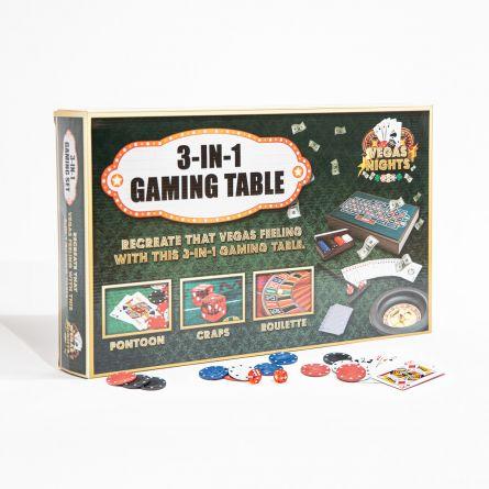Table de Jeux Vegas Nights 3 en 1