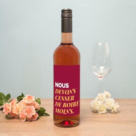 Vin personnalisable avec texte