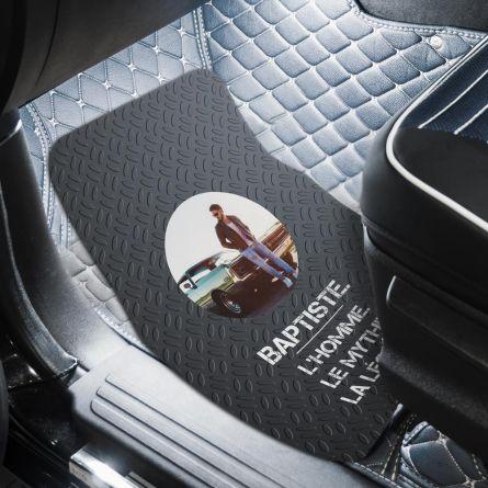 Tapis de voiture avec photo et texte