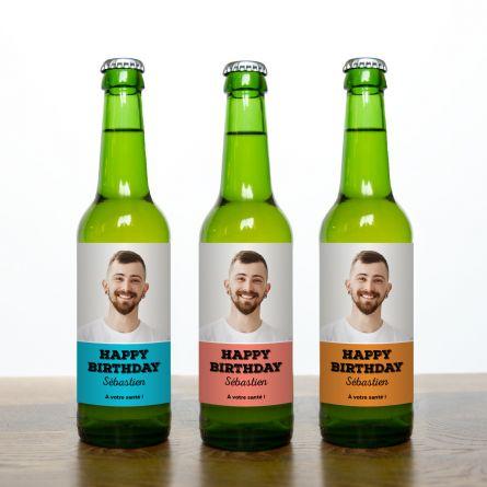 Bières avec photo et texte