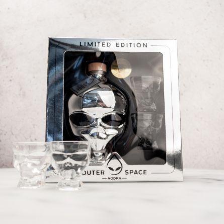 Vodka extraterrestre Coffret cadeau avec 2 verres à shot