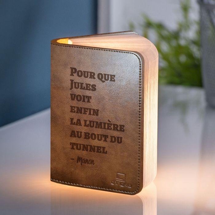 Lampe Livre Personnalisable avec Texte