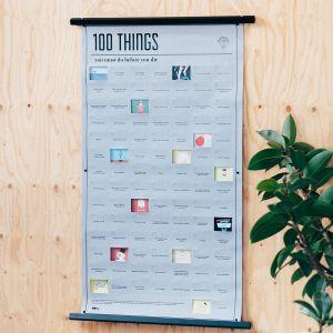 Poster 100 things, que vous devez faire avant de mourir