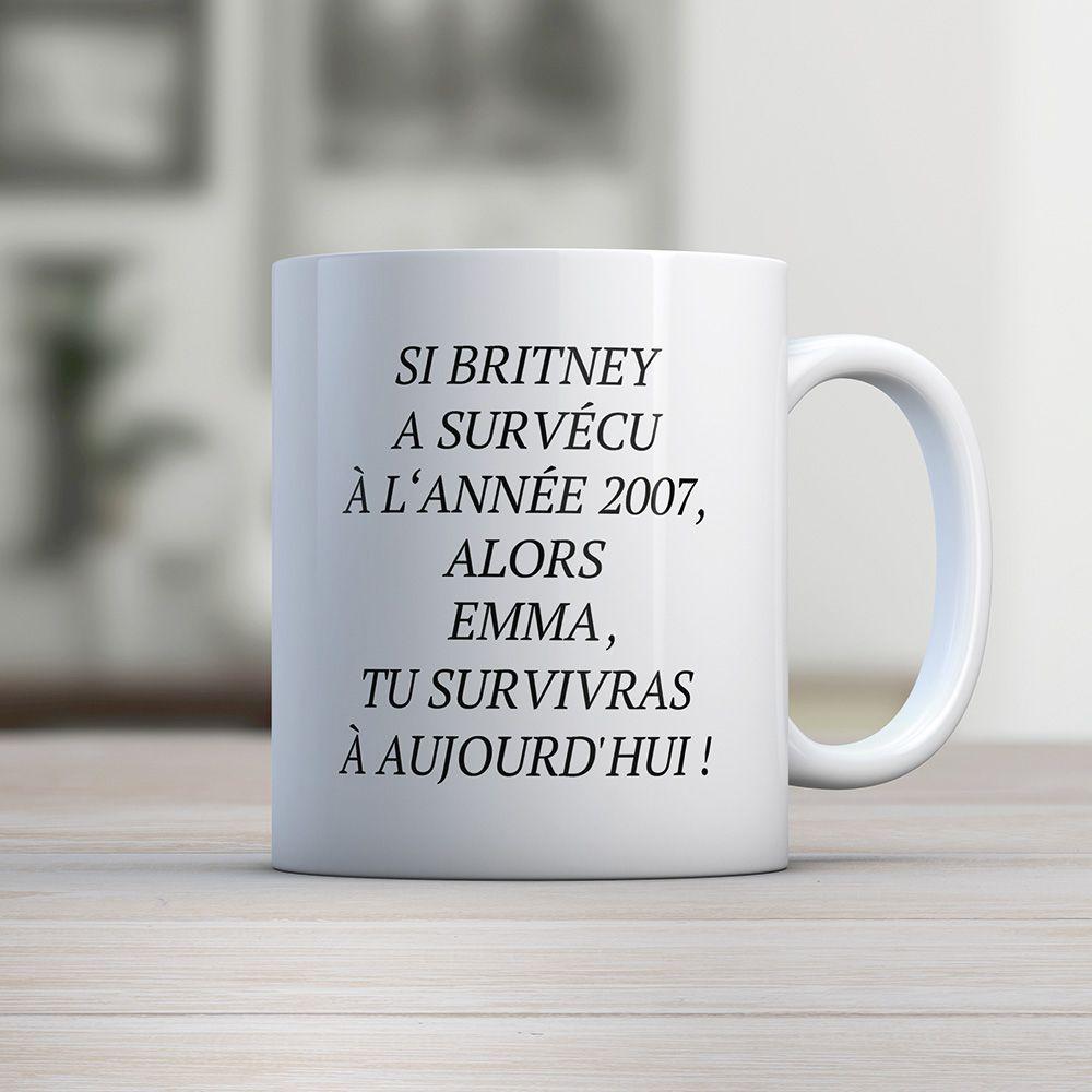 Tasse Avec Personnalisable Personnalisable Avec Britney Tasse Britney Prénom KJ1FTlc3