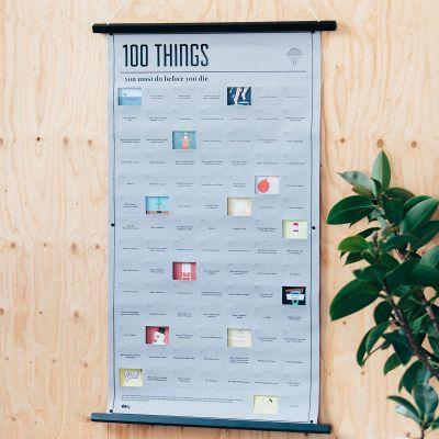 Cadeau romantique - Poster 100 things, que vous devez faire avant de mourir