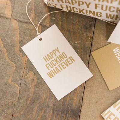 Cadeau pour son copain - Papier cadeau Happy Whatever