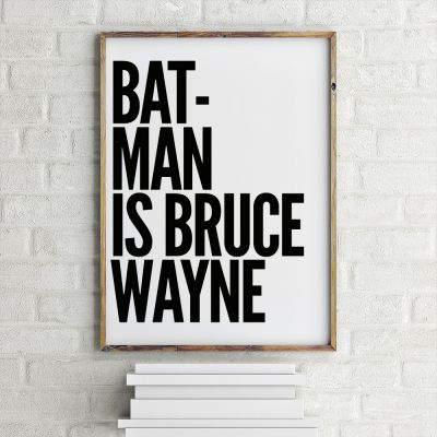Poster - Batman Is Bruce Wayne Poster par MottosPrint