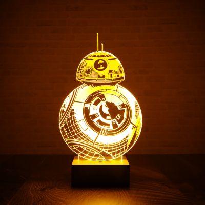 Films & Télévision  - Lampe Star Wars BB-8 effet 3D