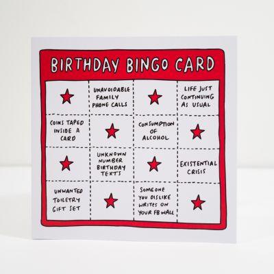 Cadeau pour son copain - Carte d'anniversaire Birthday Bingo