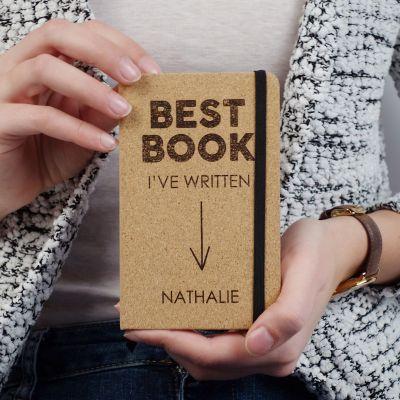 Idée cadeau femme - Carnet en liège Personnalisable - Best Book