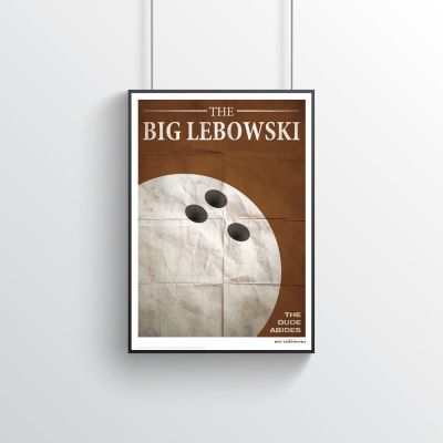 Cadeau 50 ans - Poster Citation de Film - The Big Lebowski