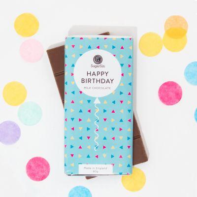 Idées cadeaux pour mettre dans le calendrier de l'avent - Tablette de Chocolat Happy Birthday