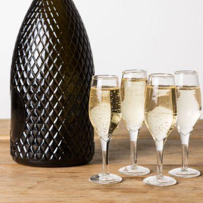 Cadeau crémaillère - Verres à shot en forme de flûtes à Champagne - Lot de 4