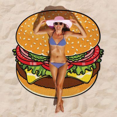 Gadgets d'été - Serviette de plage Cheeseburger