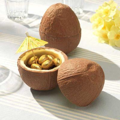 Cadeau papa - Noix de coco en Chocolat (avec ses petits œufs en chocolat)