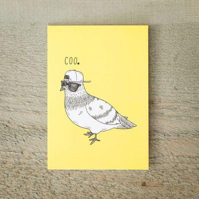 Nouveau - Carte de vœux Pigeon Cool