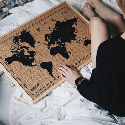 Idée cadeau femme - Pinboard Carte du Monde